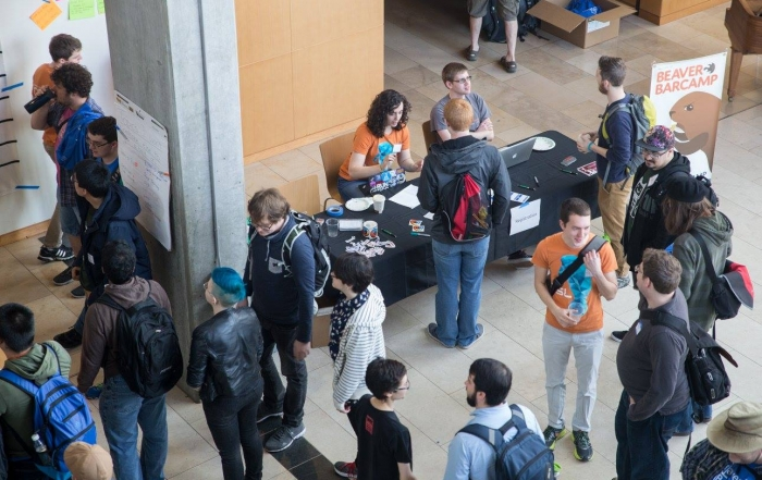 Beaver BarCamp 2016 from above