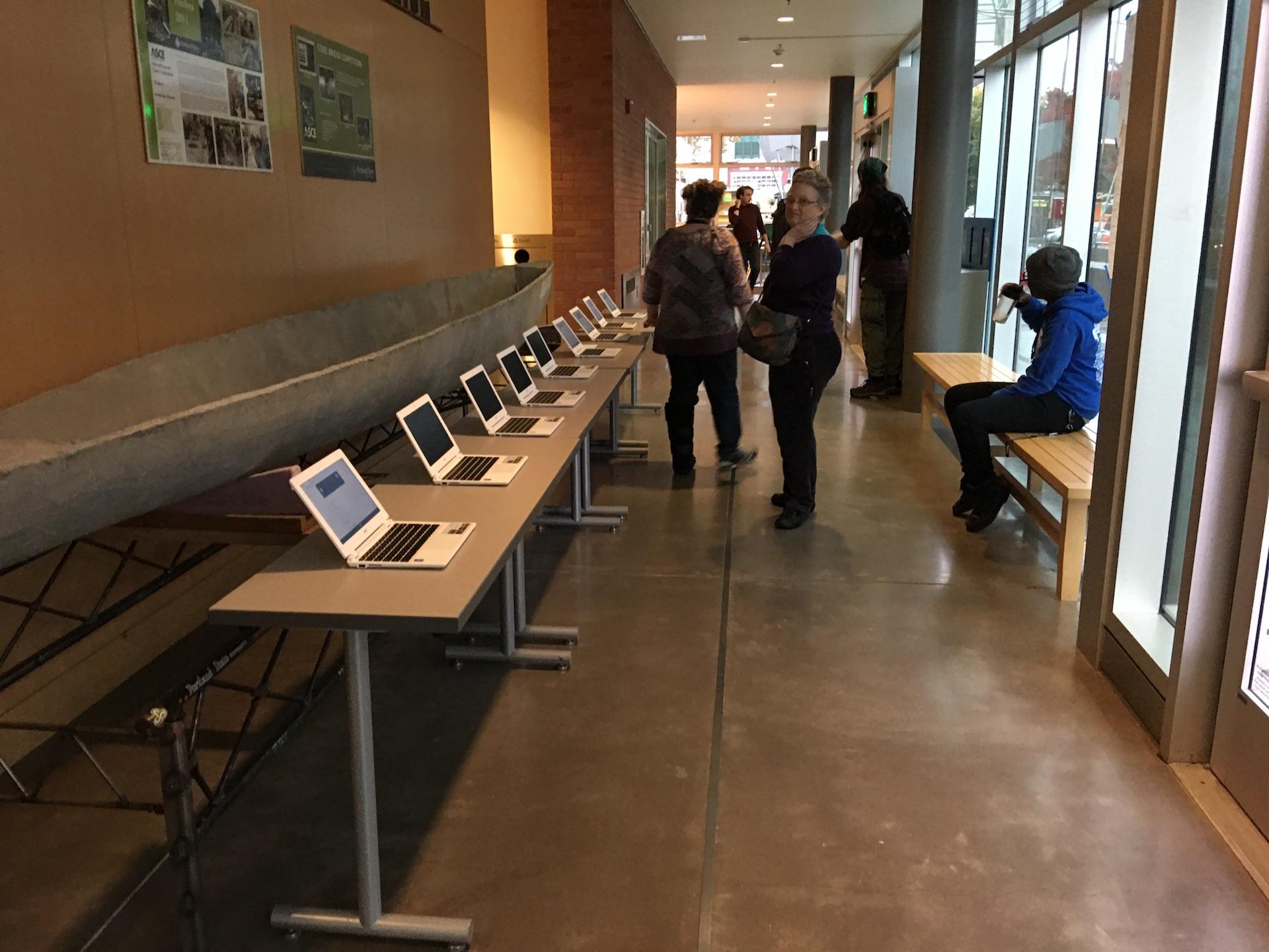 Chromebooks for registration